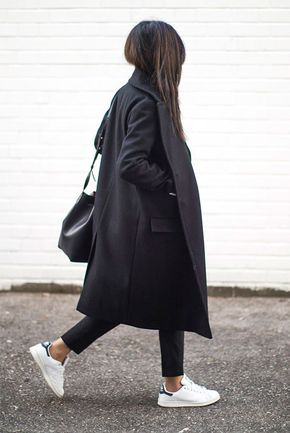 Los mejores outfits con abrigos largos negros