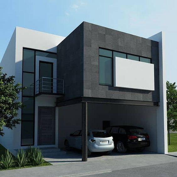 Ideas de fachadas sencillas y elegantes de dos plantas