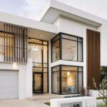 Colores para pintar la fachada de una casa elegante