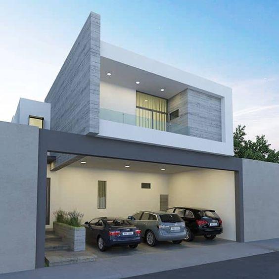 Fachadas de casas con líneas puras y sencillas