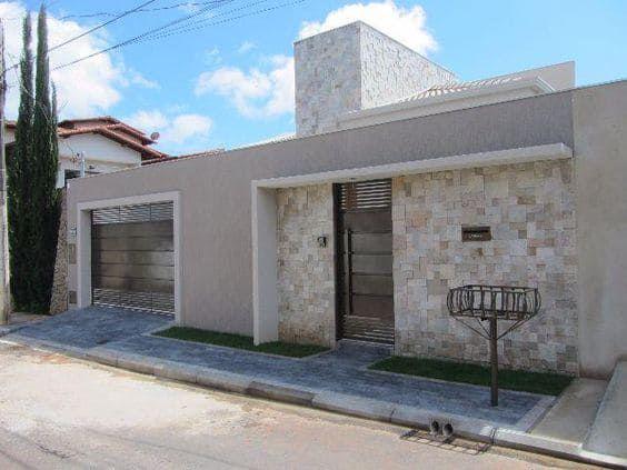 Fachadas de casas con revestimientos de piedra