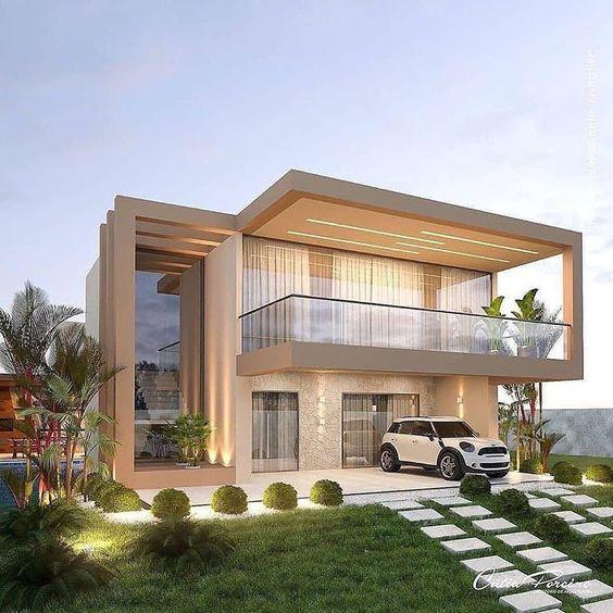 Estilos para fachadas de casas elegantes