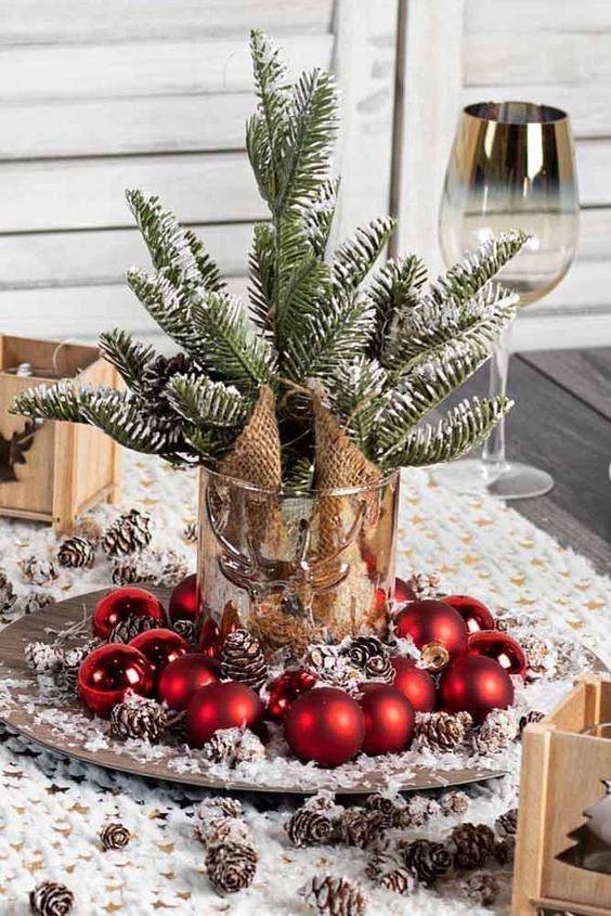 Ideas de centros de mesa navideños elegantes