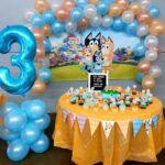 Mesas de postres para fiesta de Bluey