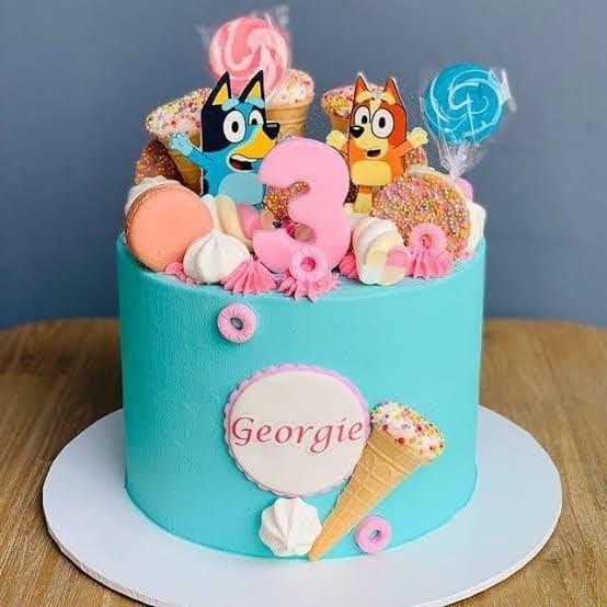 Diseños de pasteles para fiesta de Bluey