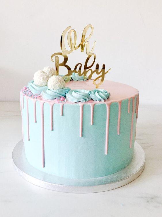 Diseños de pasteles para fiesta de revelación del sexo
