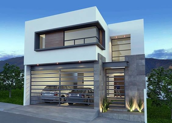Hermosas casas de dos pisos con diseño de planos