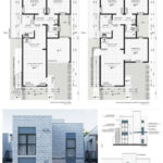 Iluminación en el diseño de casas de dos pisos angostas