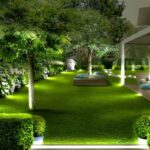 Jardines modernos con flores