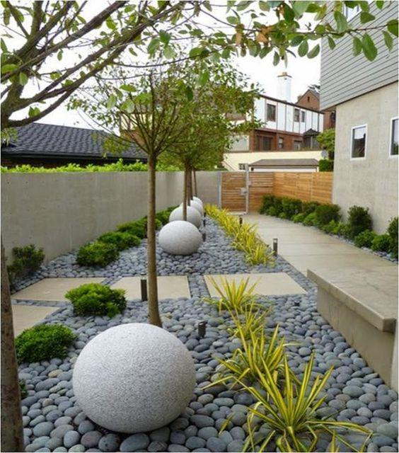 Diseños de jardines modernos minimalistas