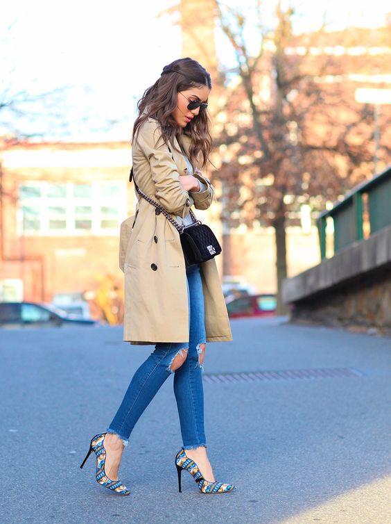 Jeans rectos de tiro alto
