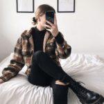 Looks con pantalones a cuadros para otoño - invierno