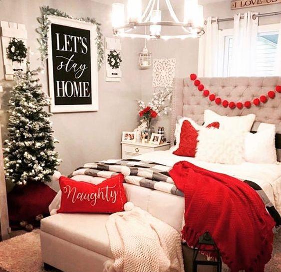 Ideas para decorar tu recamara en navidad