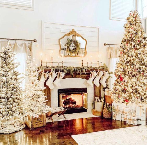 Contrastes en la decoración navideña