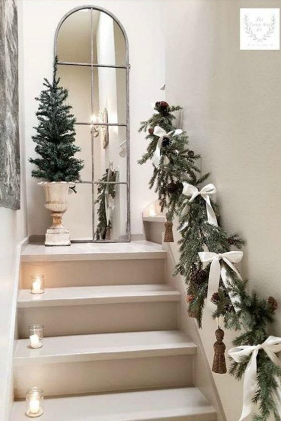 Decoración navideña estilo rústico