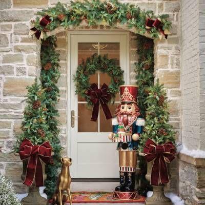 Decoración de la entrada navideña