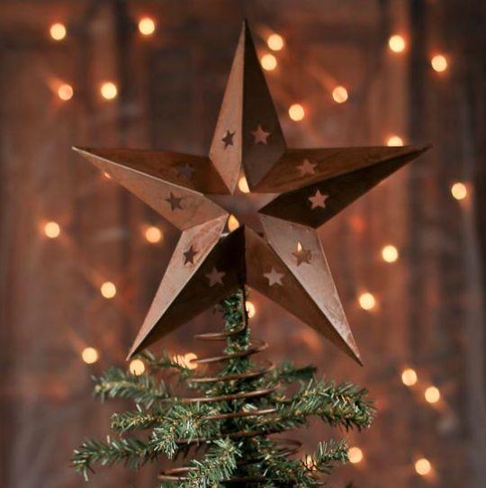 Estrellas de luz de navidad