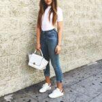 Outfits básicos con tenis blancos