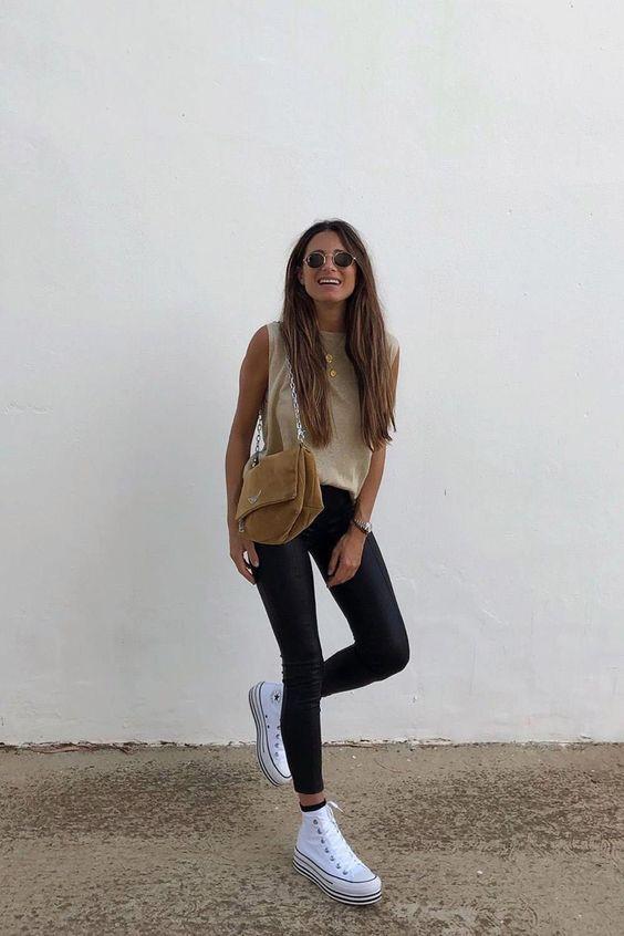 Ideas de outfits básicos con skinny jeans