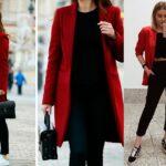 Ideas de outfits con leggins negros y gabardinas