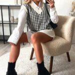 Outfits con chalecos de moda para invierno