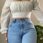 Usa jeans ajustados al cuerpo