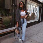 Combina jeans de mezclilla con crop tops
