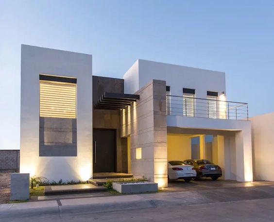Plano de casa de dos pisos con medidas