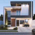 Estilos de fachadas en casas de dos pisos