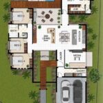 Planos arquitectónicos de casas de un piso