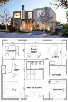 Two story house plan ideas