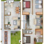 Ideas de planos de casas de dos pisos