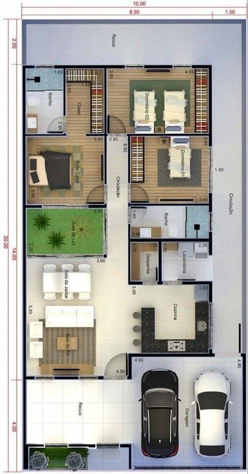Architectural plans proposals for houses Infonavit
