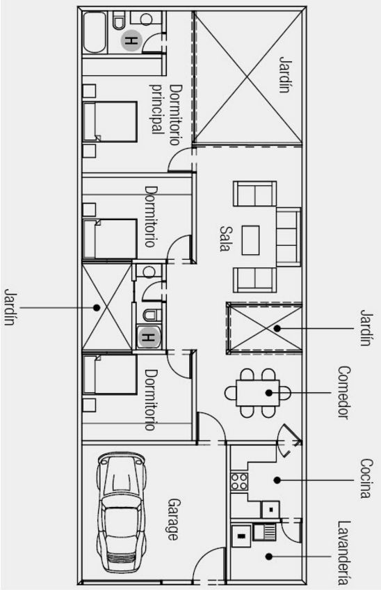 Architectural plans of small houses