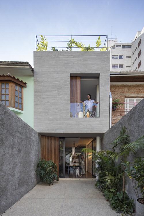 Diseño de fachada moderna para casa pequeña