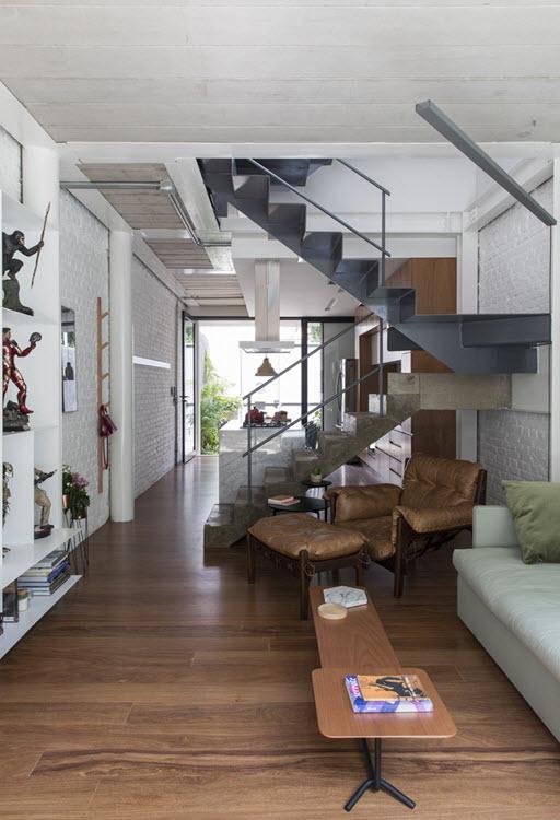 Diseño de interiores de una casa pequeña y moderna