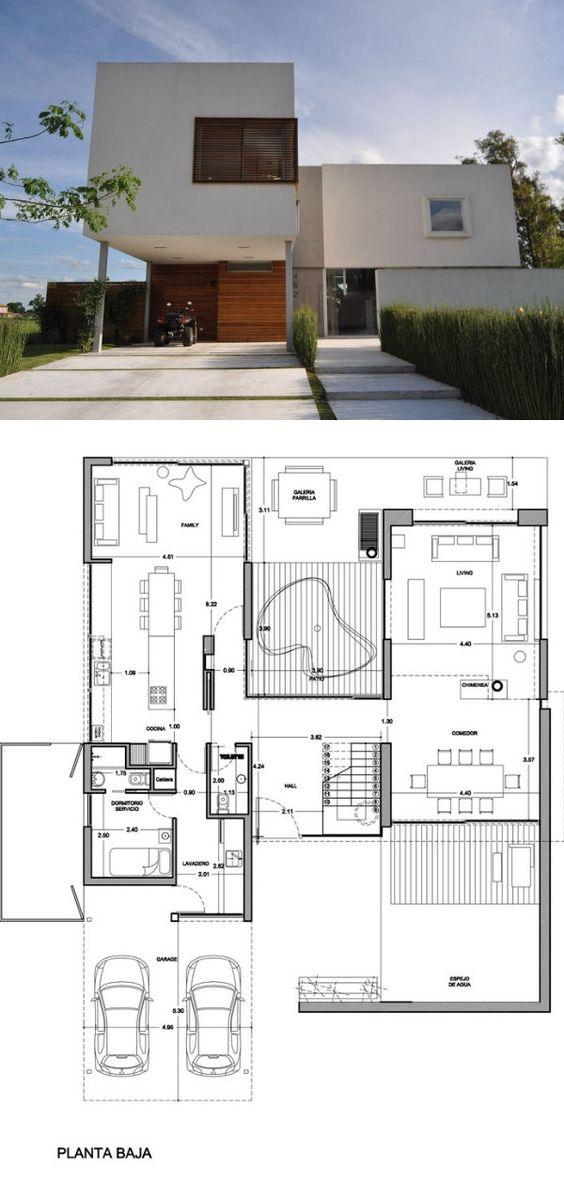 Diseño de casas con vistas en tres lados del lote