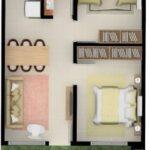 Distribución de planos con circulación lineal interior