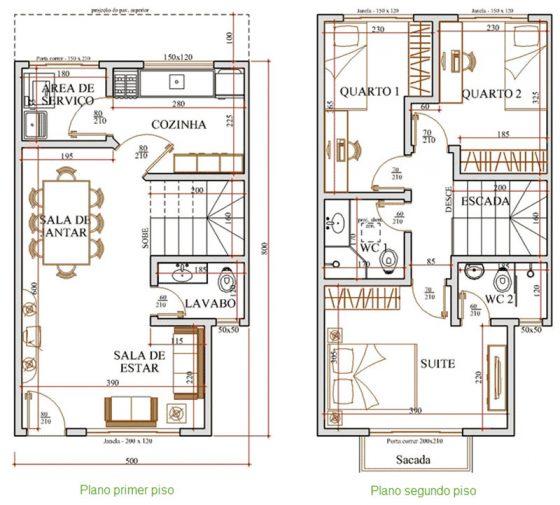 Casa con vistas al jardín frontal y posterior