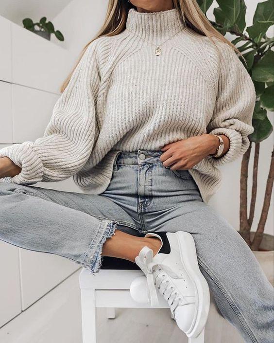 Opciones de suéteres en colores neutrales para otoño - invierno