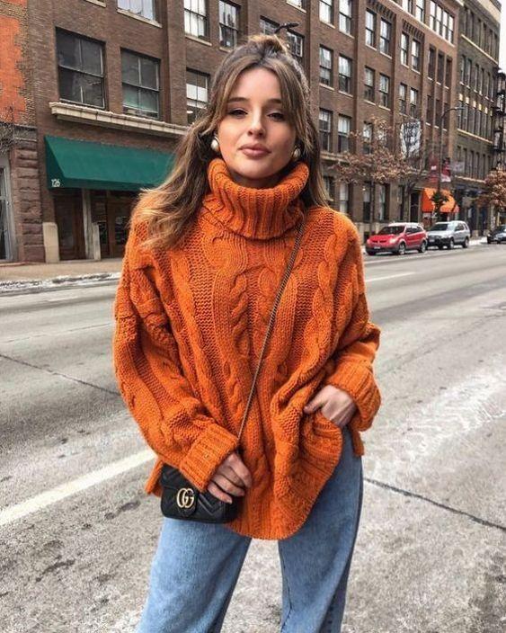 Diseños de suéteres cuello alto