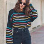 Suéteres a rayas para otoño - invierno