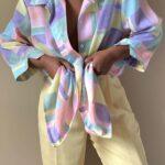 Blusas románticas con lazo al frente