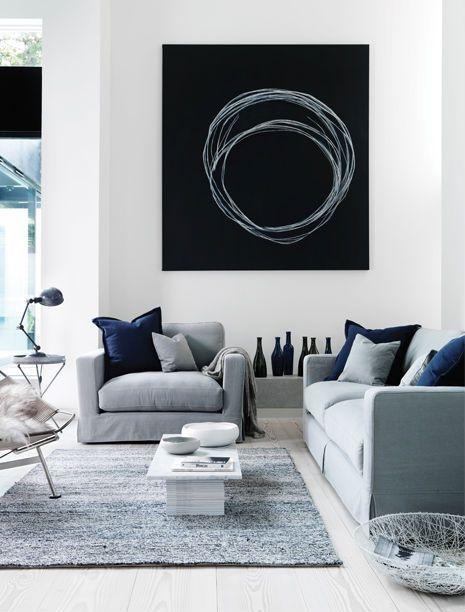 El color blanco hace que tu sala se vea más espaciosa