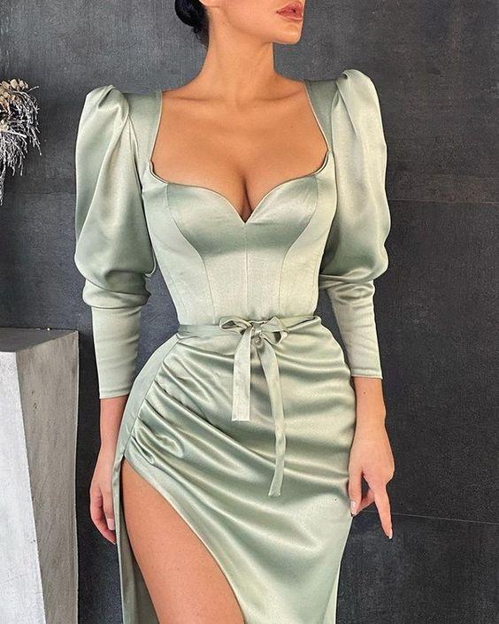 Vestidos con mangas bombachas elegantes