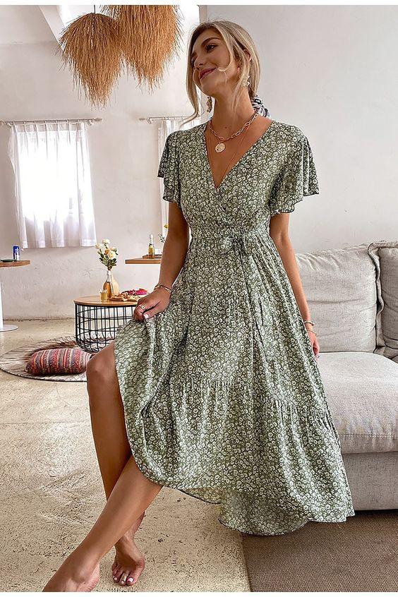 Looks con vestidos cruzados