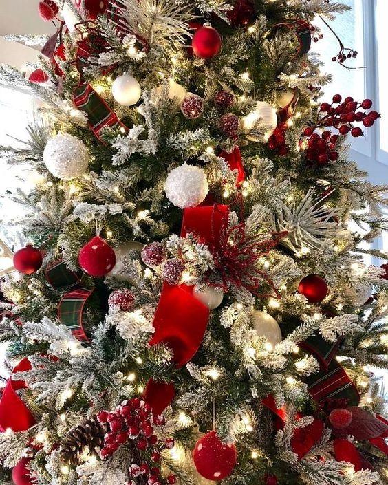 Iluminación para pino de navidad elegante