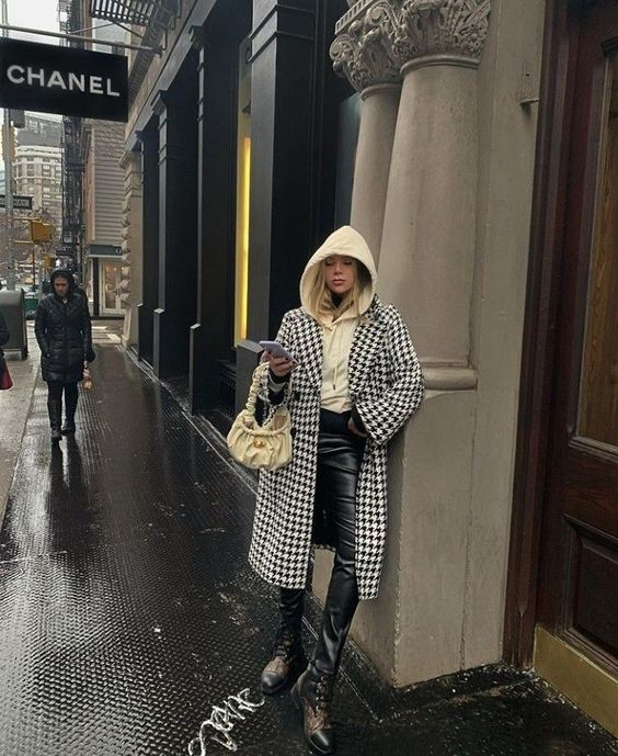 Ideas de looks con abrigos de cuadros