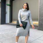 Los mejores colores de vestidos sweater para otoño - invierno