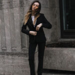 Outfits con blazers negros
